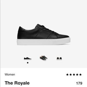 GREATS sneakers the royale black leather
